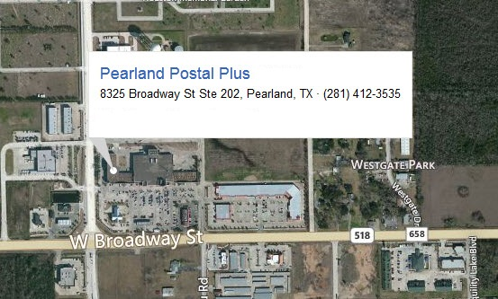 Pearland Postal Plus StoreFront
